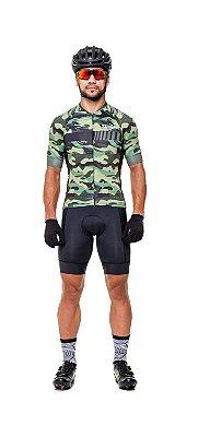 Camisa de Ciclismo Masculina SLIM - Camuflada