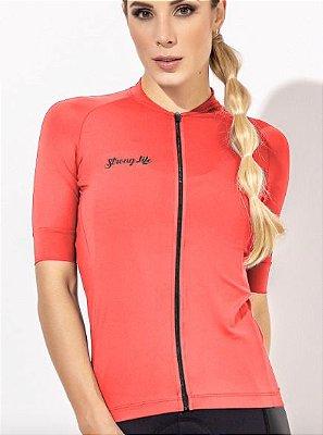 Camisa de Ciclismo Feminina em Poliamida UV50+ Lisa, Cores Diversas
