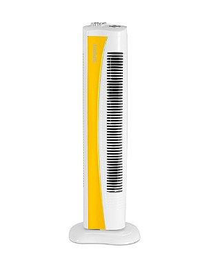 Ventilador Torre 75cm c/Timer Amarelo