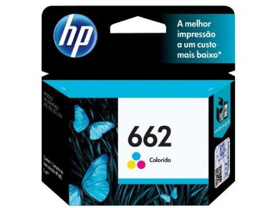 Cartucho de Tinta Original HP662 1516 3516 Colorido 2ML