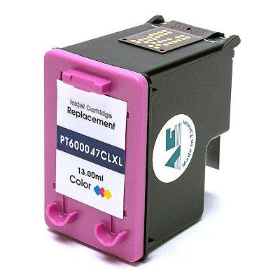 Cartucho de Tinta Compatível com HP 60XL D2530, D2545, D2560, D2660, D110A, F4210, F4240, F4280, F4440, F4480 13ML Color