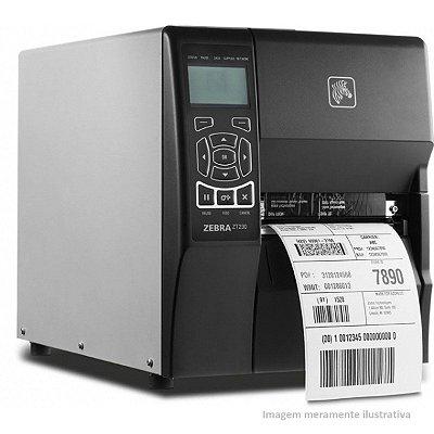 Impressora Térmica Industrial Zebra ZT230 203dpi - Rede Serial Usb