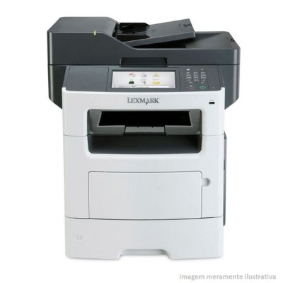 Impressora Laser Multifuncional Preto e Branco Lexmark A4 MX611DE 50PPM