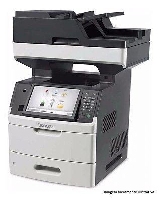 Impressora Laser Multifuncional Preto e Branco Lexmark A4 MX711DHE 77PPM