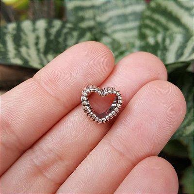 Berloque coração vazado Bali