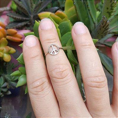 Anel de falange/dedo do pé símbolo da paz