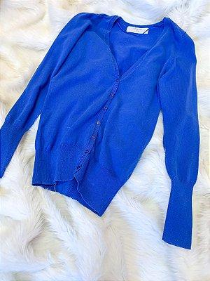 Cardigan Zara Azul M