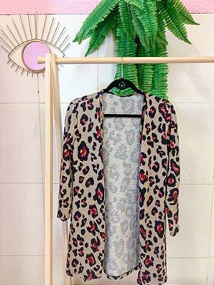 Kimono Malha Leopardo P/M