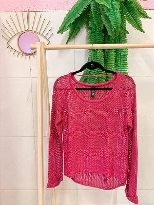 Tricô Vazado Pink M