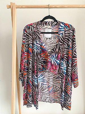 Conjunto Kimono e Cropped P