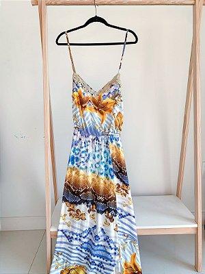 Vestido Longo Mix Prints P