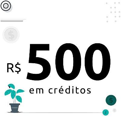 500$ em créditos para emissão de certificados digitais