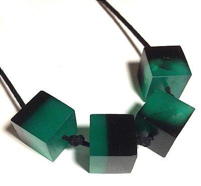 Linha Cubos - Verde Mescla