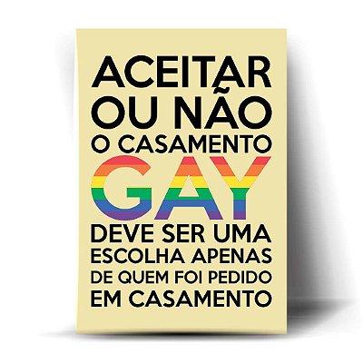Aceitar ou Não o Casamento Gay...