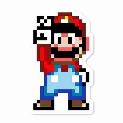 Super Mario Pixel Sticker