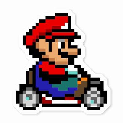 Mario Kart Pixel Sticker