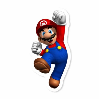 Super Mario 3D Sticker