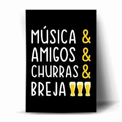 Música& Amigos& Churras& Breja