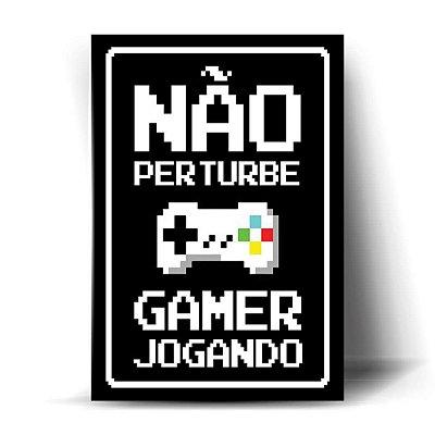 Não Perturbe - Gamer Jogando