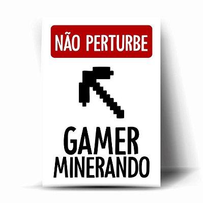 Não Perturbe - Gamer Minerando