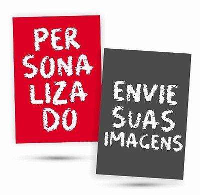 2 Placas Personalizadas - Envie Suas Fotos