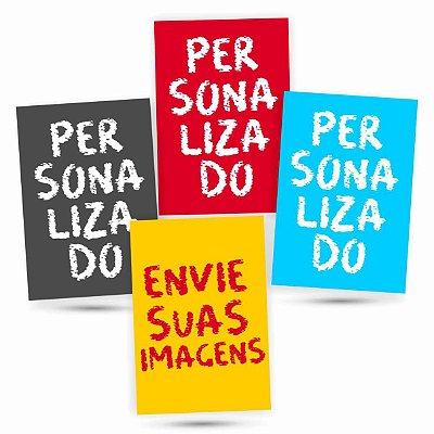 4 Placas Personalizadas - Envie Suas Fotos