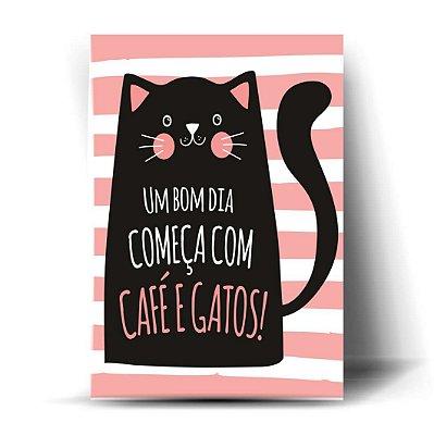 Um Bom dia Começa com Café e Gatos!