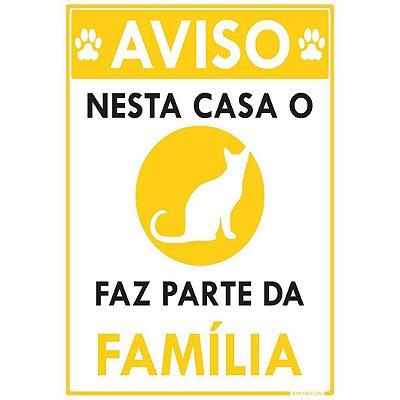 Nesta Casa o Gato faz parte da Família