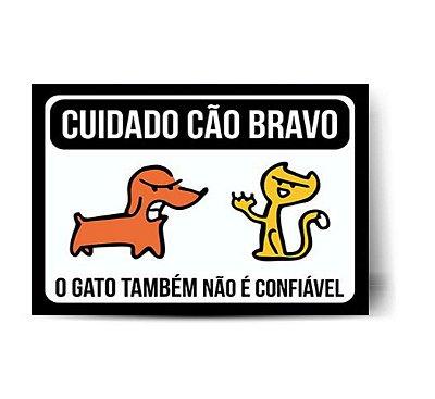 Cuidado Cão Bravo, o Gato também não é Confiável