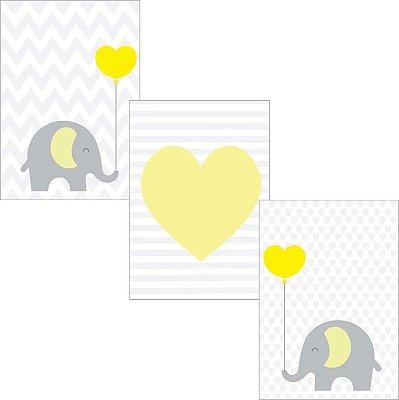 Kit Elefantinho Amarelo