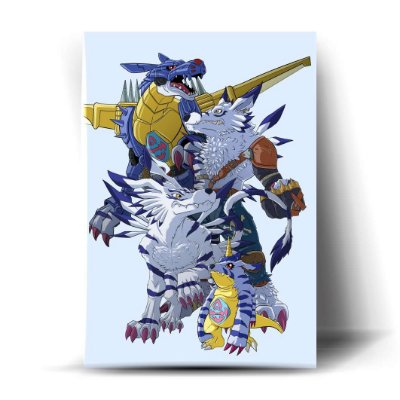 Metal Garurumon Evolution