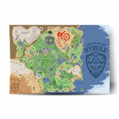 Hyrule Map Breath of The Wild