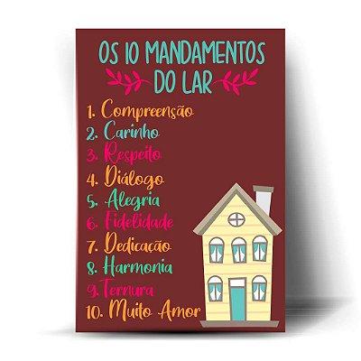 Os dez mandamentos do lar