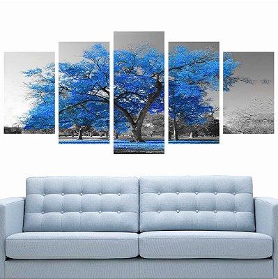 Mosaico Árvore Azul