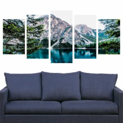 Mosaico Lago e Montanhas