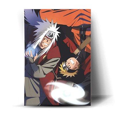 Naruto e Jiraiya Rasengan