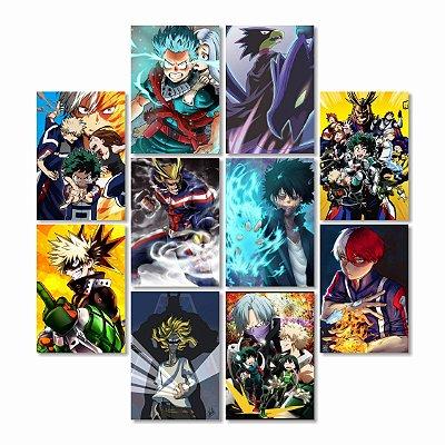 Kit 10 Placas Boku No Hero 30x40cm - Promoção