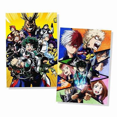 Kit 2 Placas Boku No Hero 30x40cm - Promoção