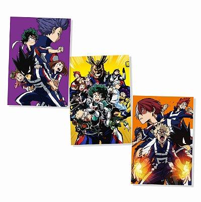 Kit 3 Placas Boku No Hero 30x40cm - Promoção