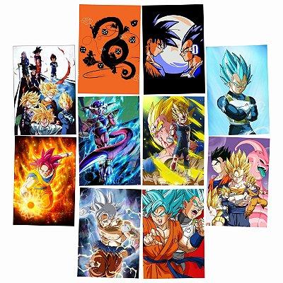 Kit 10 Placas Dragon Ball 30x20cm - Promoção