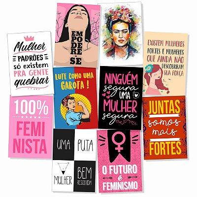 Kit 10 Placas Feministasl 30x20cm - Promoção