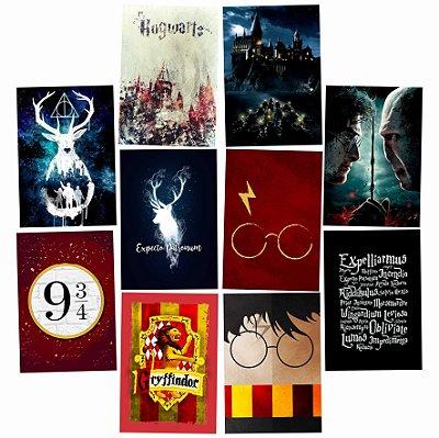 Kit 10 Placas Harry Potter 30x20cm - Promoção