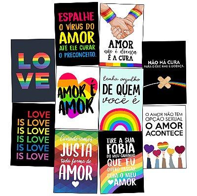 Kit 10 Placas LGBT 30x20cm - Promoção