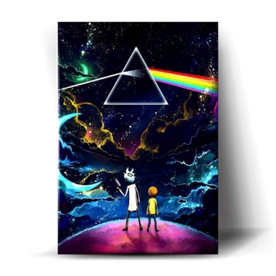 Rick and Morty Pink Floyd Art