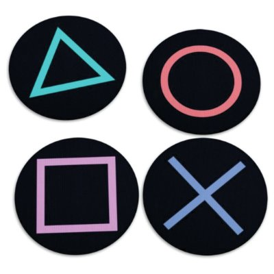 Jogo de Porta Copos Gamer Botões PS4