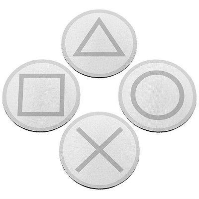 Jogo de Porta Copos Gamer Botões PS5