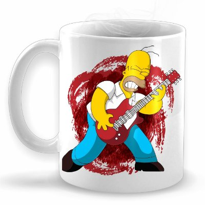 Homer Rock - Caneca