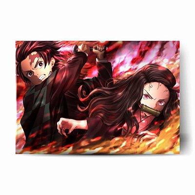 Tanjiro e Nezuko Ataque - Demon Slayer: Kimetsu no Yaiba