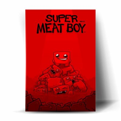 Super Meat Boy Art