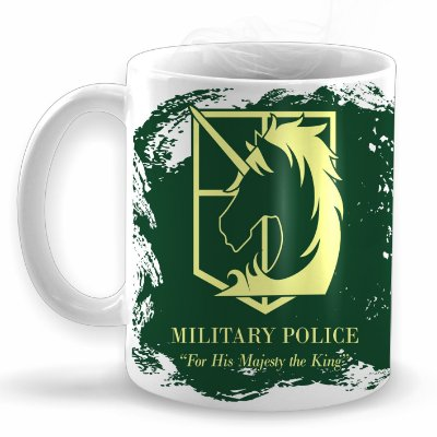 Policia Militar - Shingeki no Kyojin - Caneca